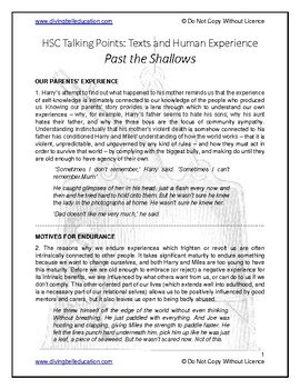 Talking Points - HSC Common Module Past the Shallows