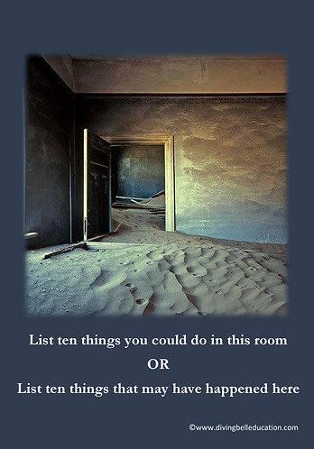 Creative Writing Prompt Card - Lists explaining a room
