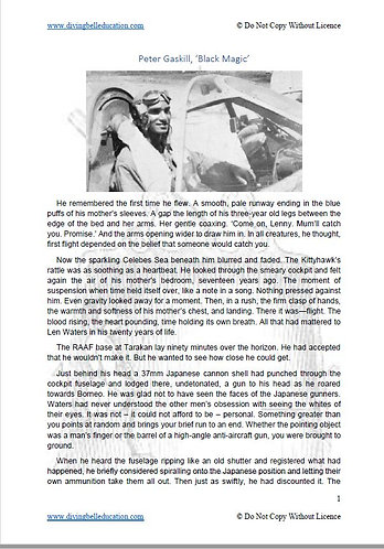 Texts and Human Experience Short Story: Peter Gaskill, 'Black Magic'