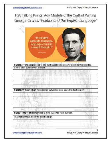 HSC Mod C: Ways Into - Orwell 'Politics & the English Language'