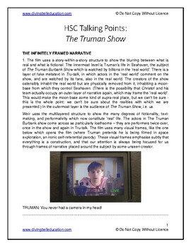 Talking Points - HSC Standard Mod B: The Truman Show