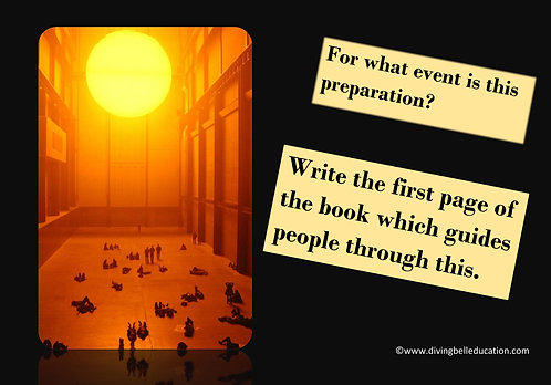 Creative Writing Prompt Card - Write a guidebook extract
