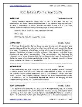 Talking Points - HSC Standard Module A: The Castle