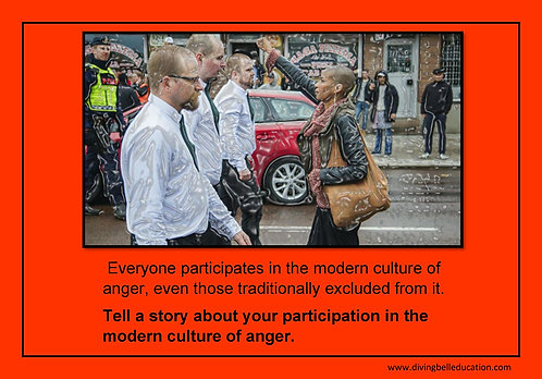 Creative Writing Prompt Card - The Cult of Anger