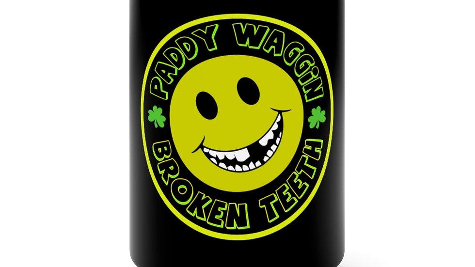 Paddywaggin Broken Teeth Black Mug 15oz