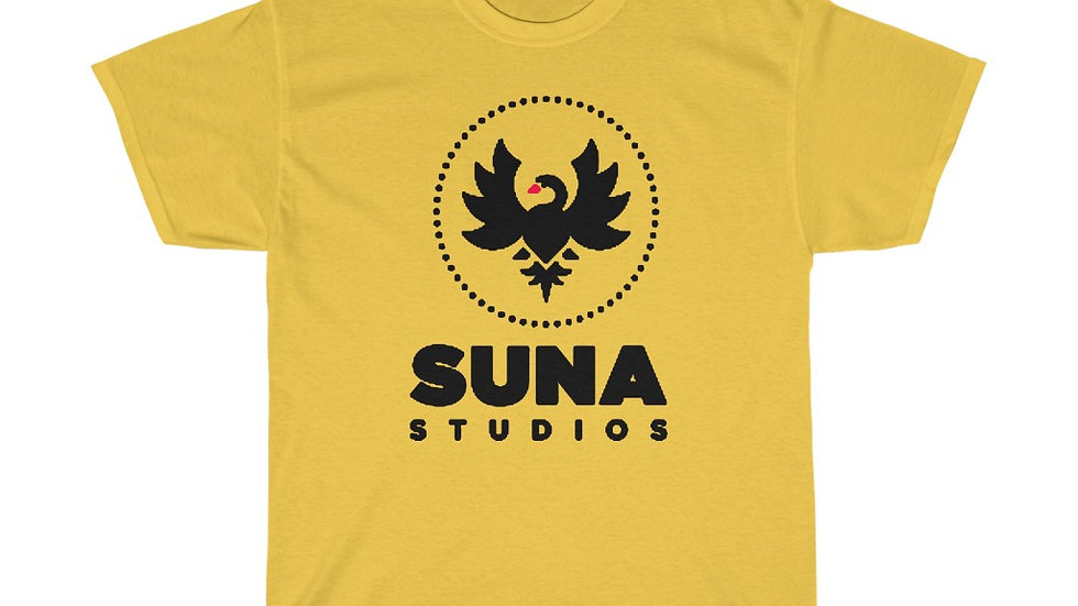 Suna Black Unisex Heavy Cotton Tee