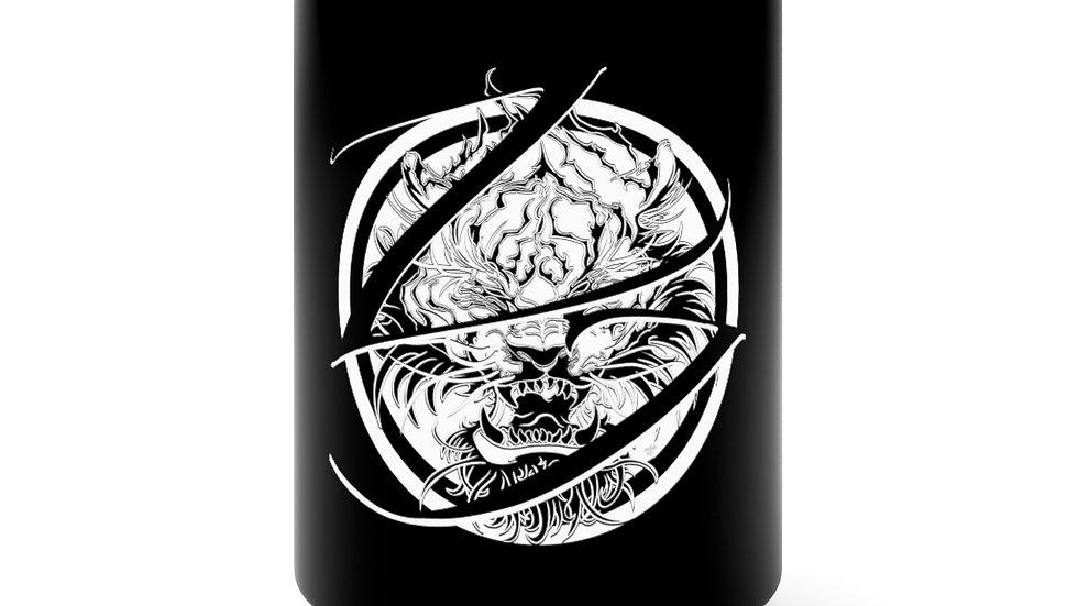 Zen Junkie Tiger Black Mug 15oz
