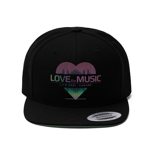 Love for Music 2021 Unisex Flat Bill Hat