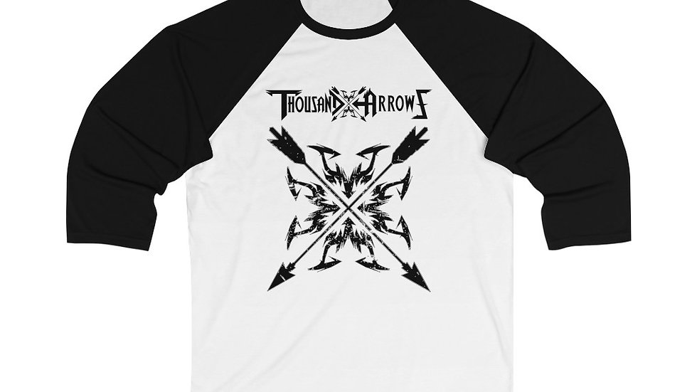 Thousand Arrows Unisex 3/4 Sleeve Baseball Tee