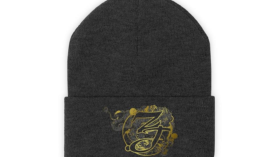 Zen Junkie Gold Tiger Knit Beanie
