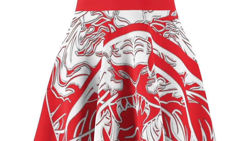 Zen Junkie Red Tiger Women's Skater Skirt