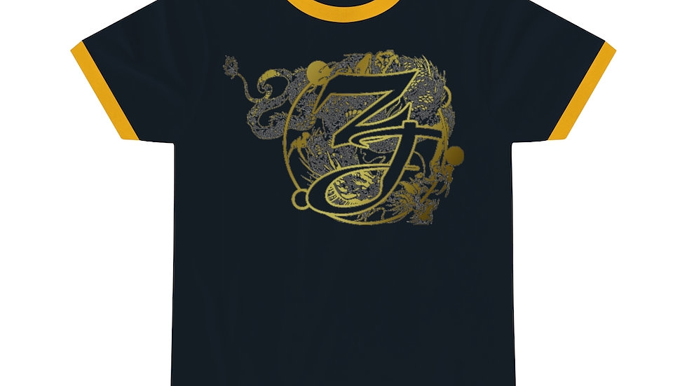 Zen Junkie Dragon Unisex Ringer Tee