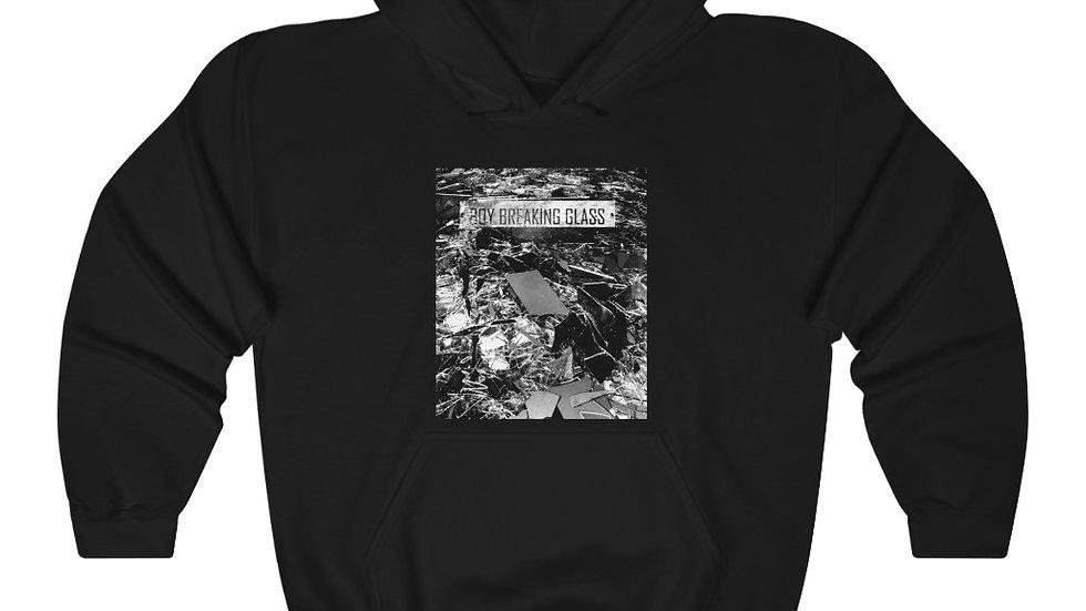 Boy Breaking Glass Unisex Heavy Blend™ Hooded Sweatshirt