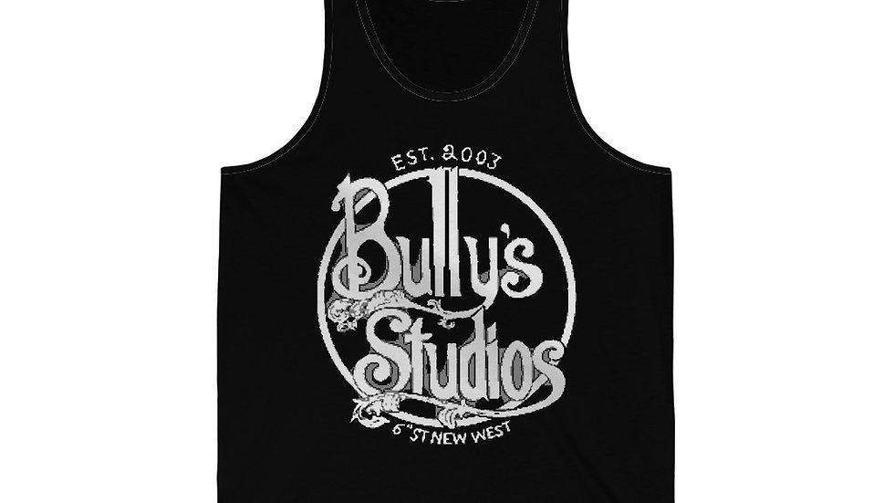 Bully's White Unisex Jersey Tank