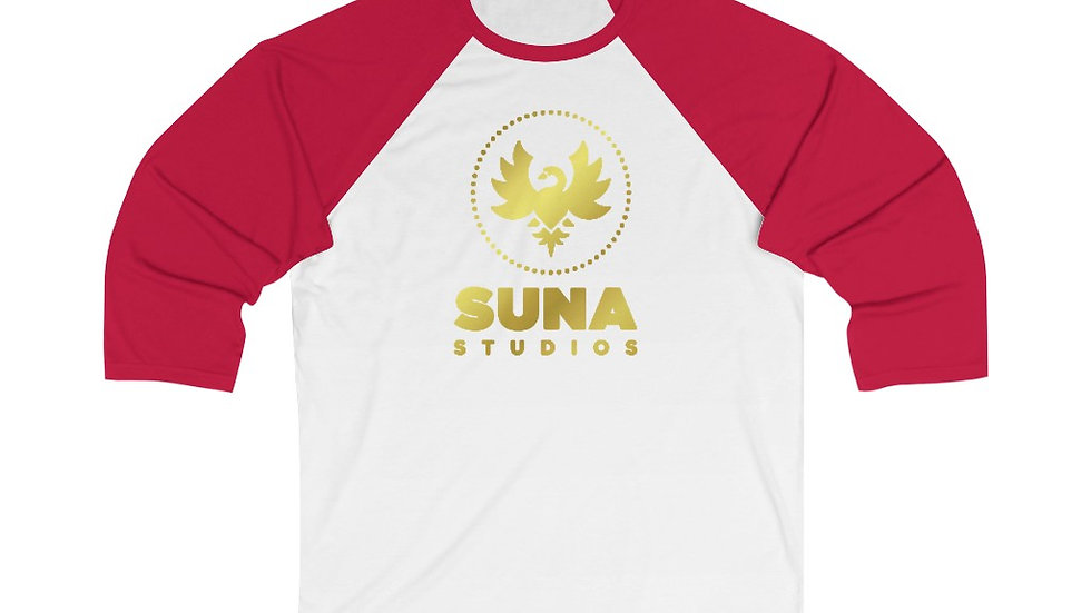 Suna Gold Unisex 3/4 Sleeve Baseball Tee