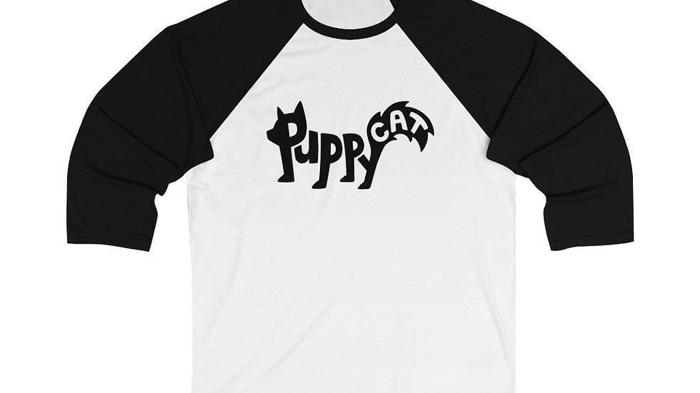 Puppycat Unisex 3/4 Sleeve Baseball Tee