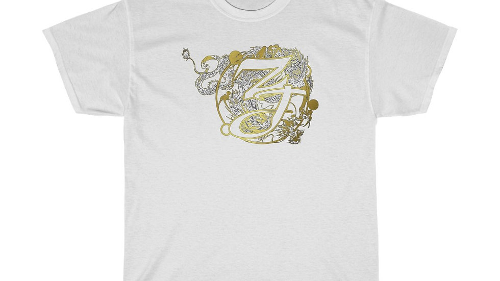 Zen Junkie Gold Dragon Unisex Heavy Cotton Tee