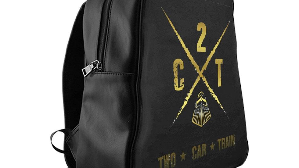 Two Car Train School Backpack