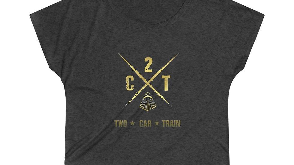 Two Car Train Women's Tri-Blend Dolman