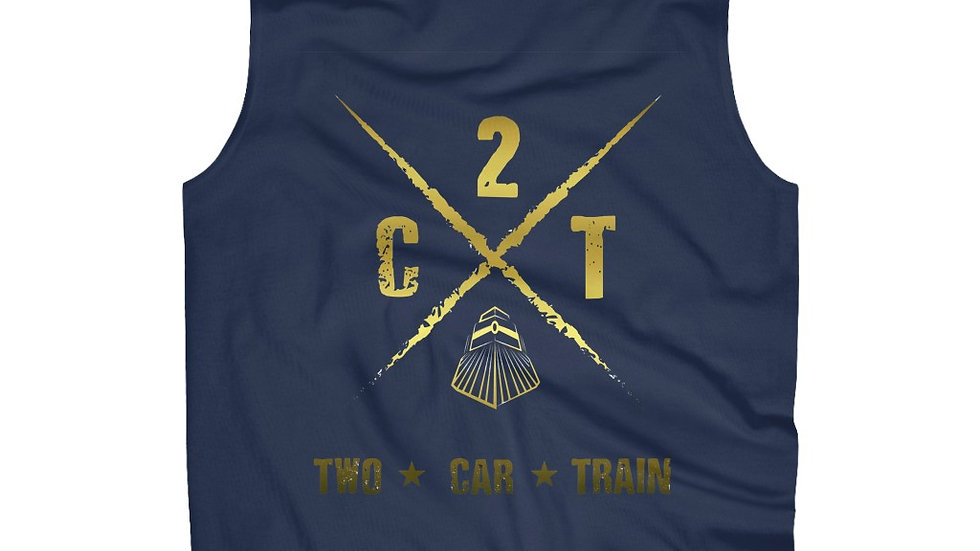 Two Car Train Men's Ultra Cotton Sleeveless Tank