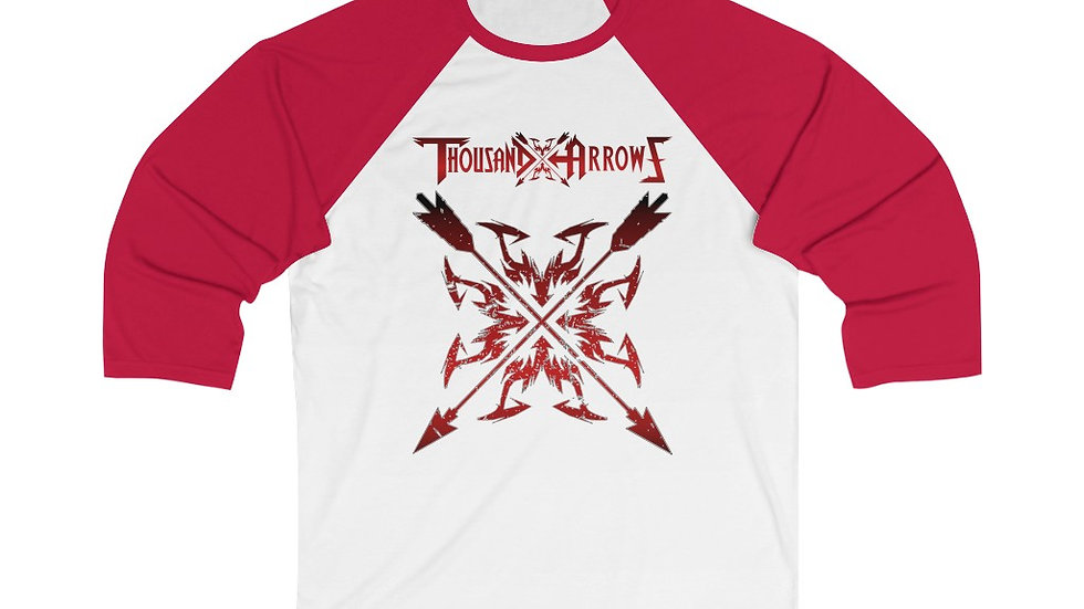 Thousand Arrows Unisex 3/4 Sleeve Baseball Tee