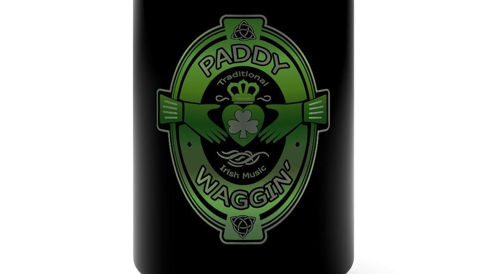 Paddywaggin Patch Black Mug 15oz