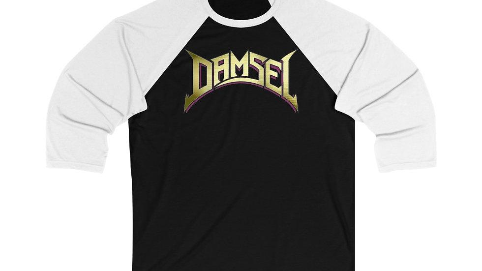 Damsel Unisex 3/4 Sleeve Baseball Tee