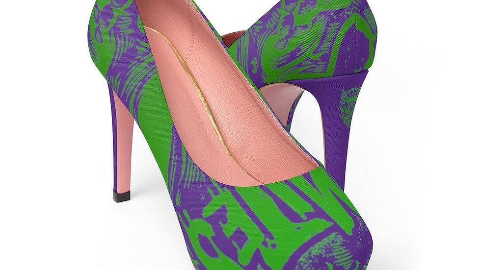 Fomites Purple Women's Platform Heels