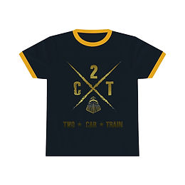 2 Car Train Unisex Ringer Tee