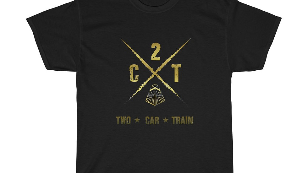2 Car Train Unisex Heavy Cotton Tee