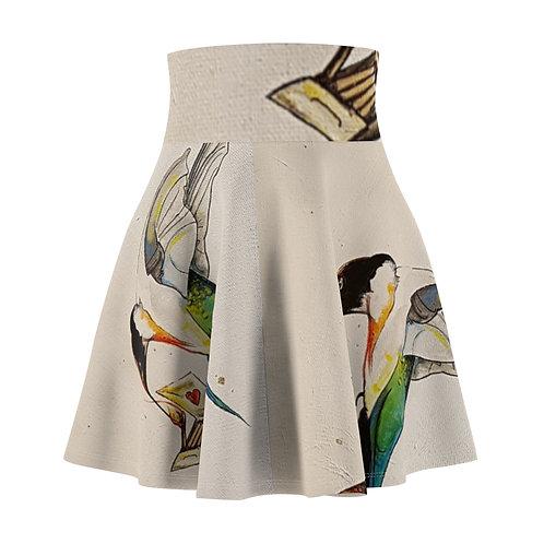 Fire's Women's Skater Skirt by Carla Leishman