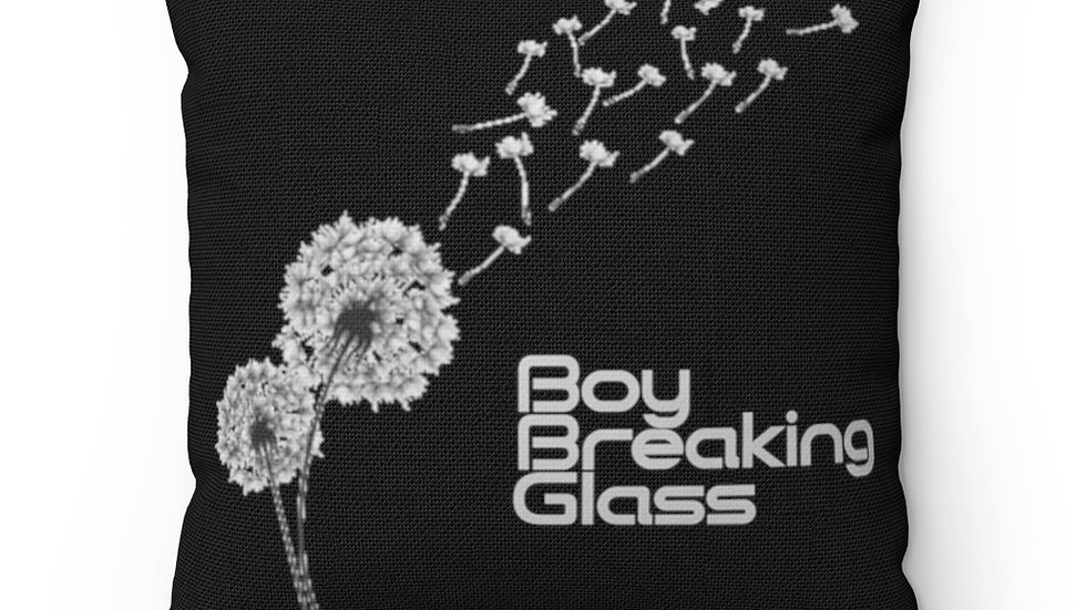 Boy Breaking Glass Polyester Square Pillow