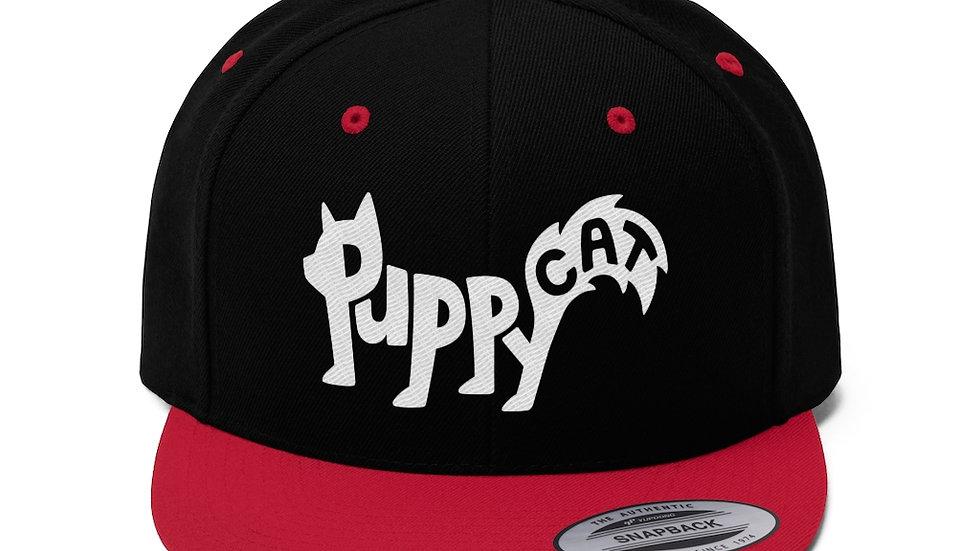 Puppycat Unisex Flat Bill Hat