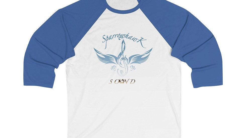 SparrowHawk Unisex 3/4 Sleeve Baseball Tee