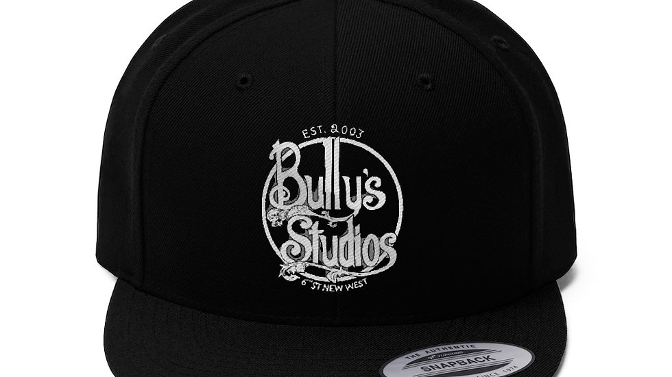 Bully's Unisex Flat Bill Hat