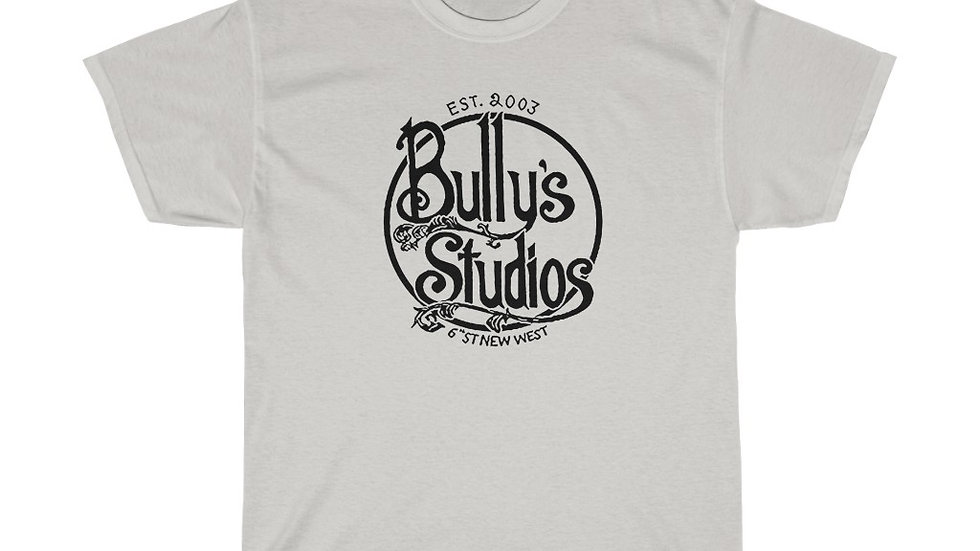 Bully's Black Logo Unisex Heavy Cotton Tee
