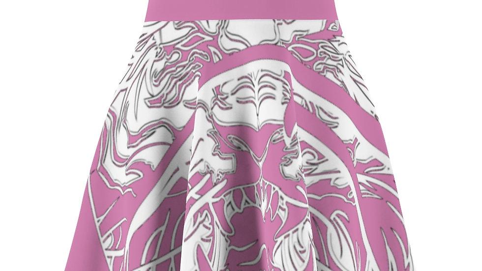 Zen Junkie Pink Tiger Women's Skater Skirt