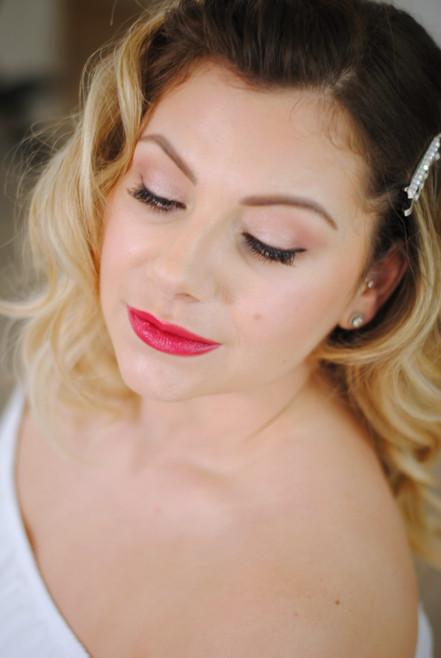 Vintage inspred bridal makeup