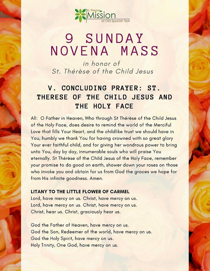9 Sunday Novena - V. Concluding Prayer.j