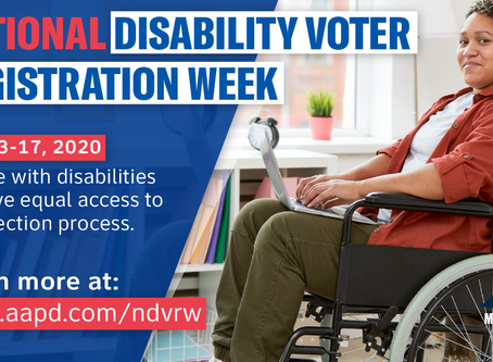 National Disability Voter Registration Week July 13-17 2020