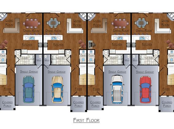 Arkansas Townhouse Floorplan