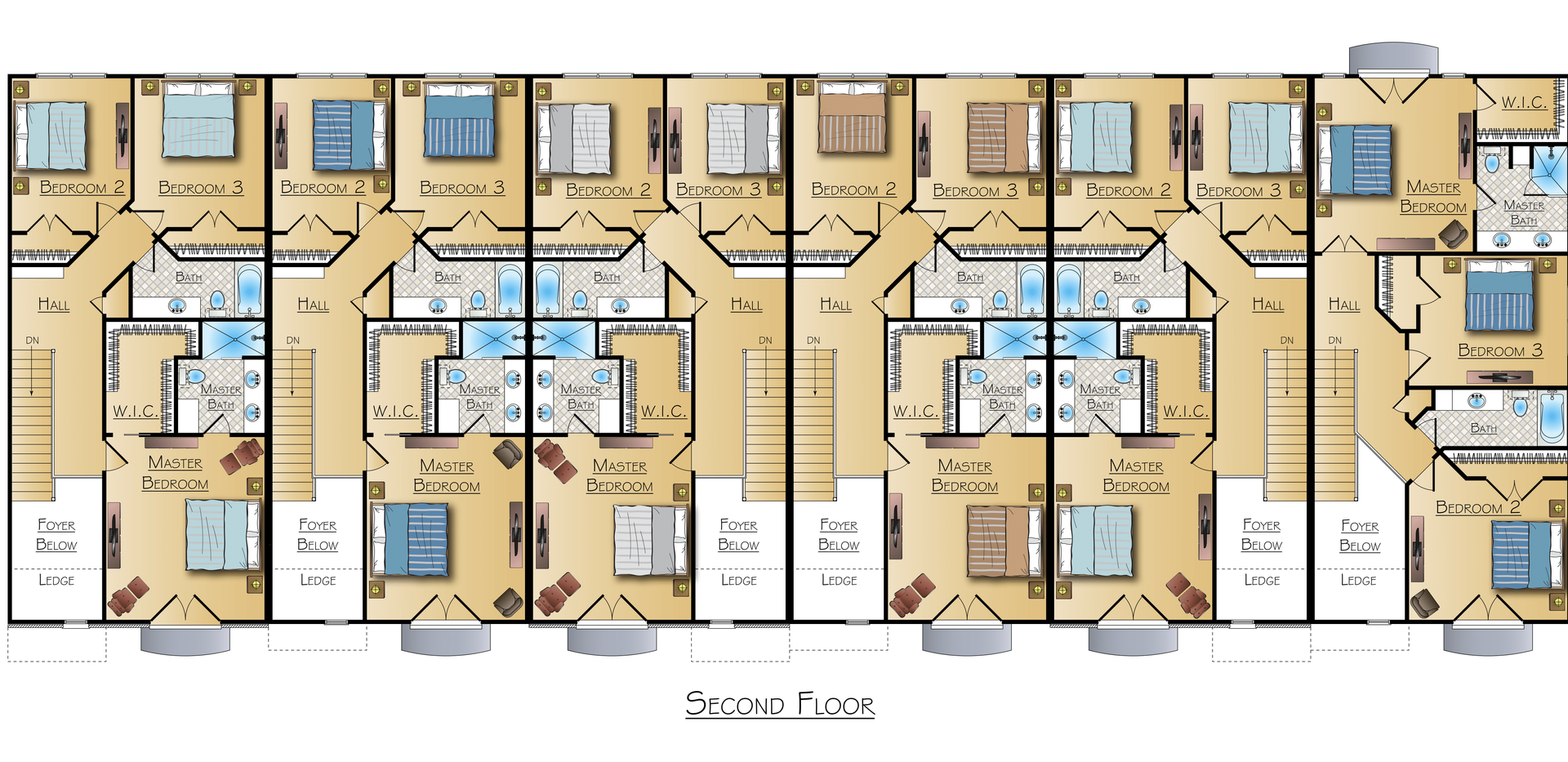 Arkansas Townhouse Floorplan