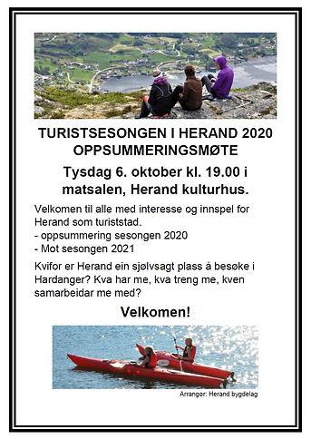 Oppsummering turistsesong 2020 - plakat.