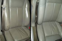 Restauration  des sièges en cuir