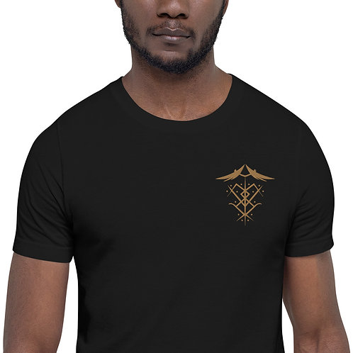 """Ascended Masters Embroidered Sigil"" Short-Sleeve Unisex T-Shirt"
