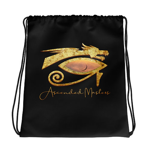 """""""Ascended Masters"""" Drawstring bag Black"""