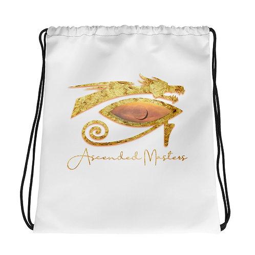 """""""Ascended Masters"""" Drawstring bag White"""