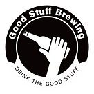 Good stuff brewing logo black and white.