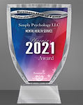 Awarded Business Hall of Fame 3 Consecutive Years for Simply Psychology LLC for Phoenix 2021.