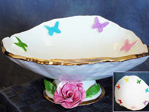 Rainbow Baby Butterfly Bowl
